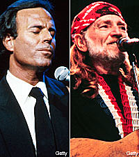 Photo of Julio Iglesias & his friend  Willie Nelson