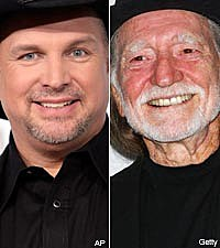 Garth Brooks and Willie Nelson