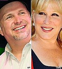 Garth Brooks and Bette Midler