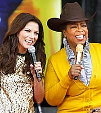 Martina McBride and Oprah Winfrey