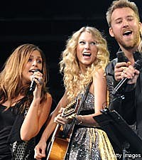 Lady Antebellum, Taylor Swift