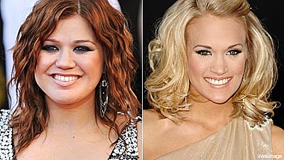 Kelly Clarkson and Carrie Underwood