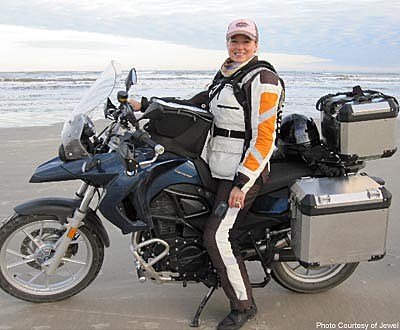 Jewel and Hubby Ty Murray Motorcycle Across the U S