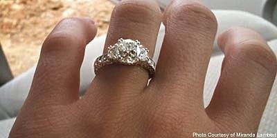 miranda lambert s engagement ring revealed