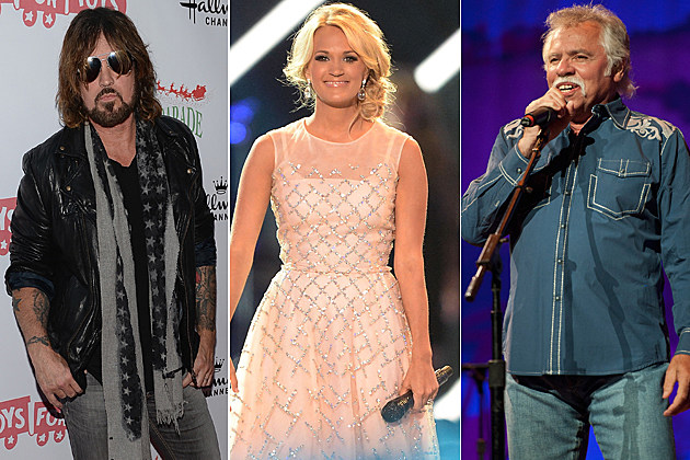 Billy Ray Cyrus Carrie Underwood Joe Bonsall