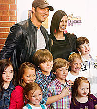 Sara evans and family enjoy a chaos filled halloween
