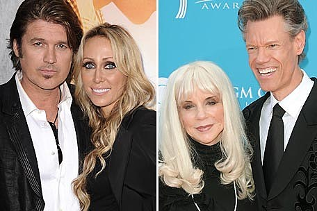 Billy Ray Cyrus with Tish Cyrus and Randy Travis with Lib Hatcher