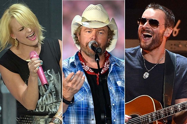 Miranda Lambert, Toby Keith, Eric Church