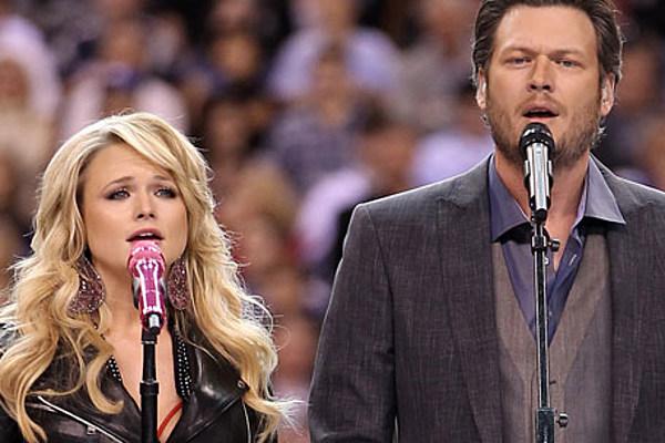 Miranda Lambert Blake Shelton Super Bowl Performance Of