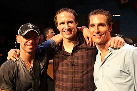 Photo of Drew Brees & his friend  Kenny Chesney