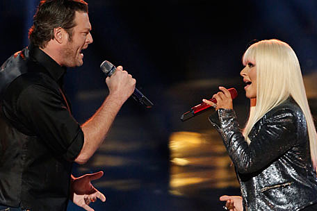 Blake Shelton Christina Aguilera Duet On The Voice Watch