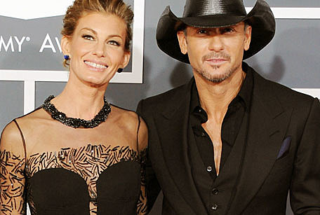 Tim McGraw with beautiful, Wife Faith Hill