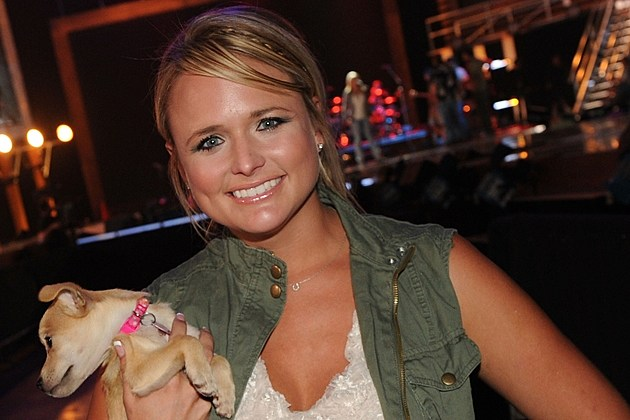 Miranda Lambert and Dog
