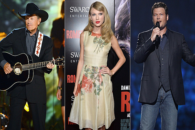 George Strait Taylor Swift Blake Shelton