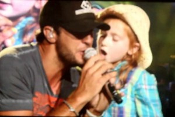 Young Girl Steals The Show From Luke Bryan