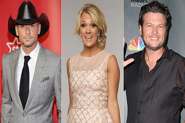Tim McGraw Carrie Underwood Blake Shelton