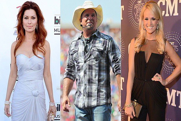 Shania Twain Garth Brooks Carrie Underwood
