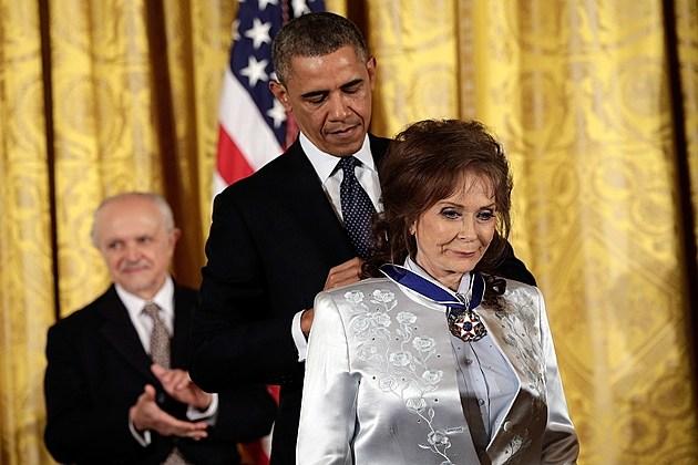 President Obama Loretta Lynn
