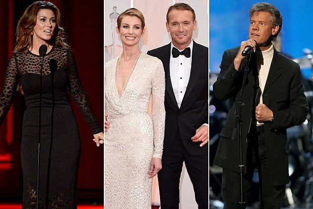 Tim Mcgraw and Faith Hill, Shania Twain, Randy Travis