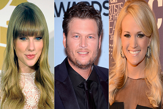 Taylor Swift Blake Sheton Carrie Underwood