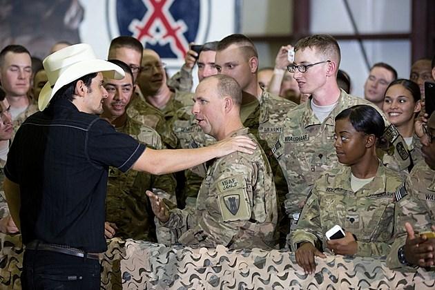 Brad Paisley Afghanistan troops