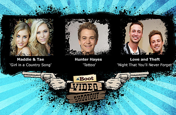 maddie tae vs hunter hayes vs love and theft video. Black Bedroom Furniture Sets. Home Design Ideas