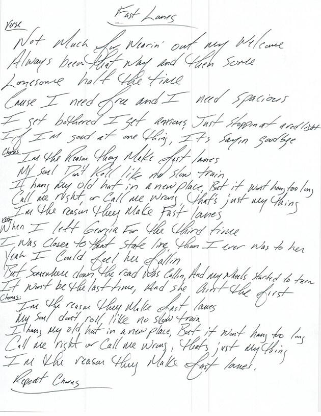 Jason Aldean Fast Lanes lyrics
