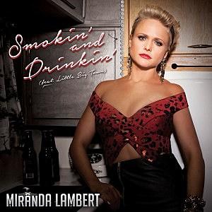 Miranda Lambert Smokin and Drinkin single cover