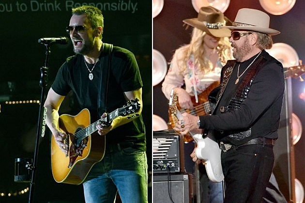 Eric Church Hank Williams Jr 2015 CMA Awards