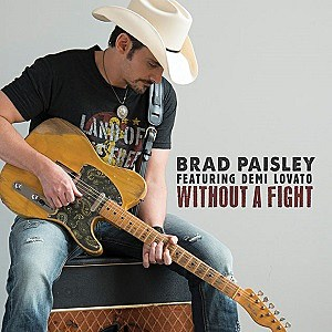Brad Paisley Demi Lovato Without a Fight single cover