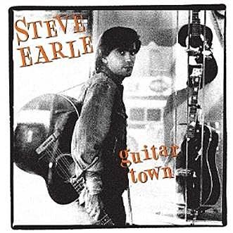 Steve Earle Guitar Town album cover