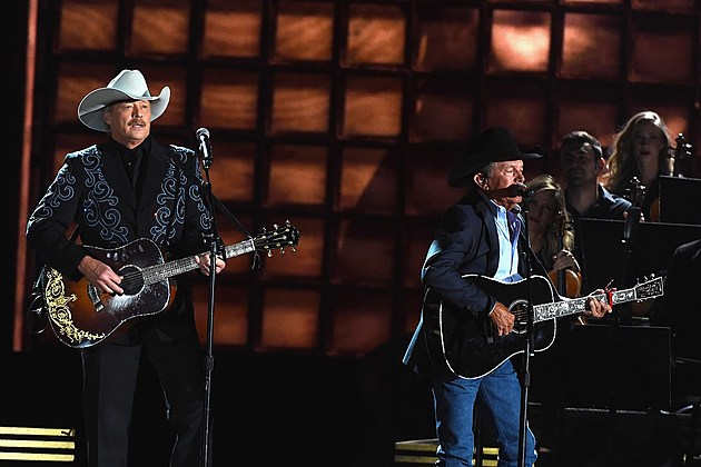George Strait Alan Jackson 2016 CMA Awards