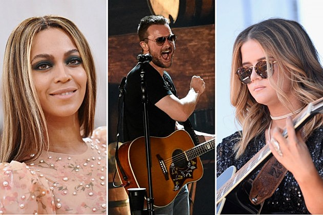beyonce eric church maren morris top country songs 2016